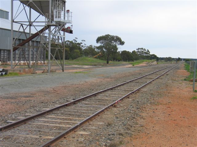 The view looking north towards the loading bank.