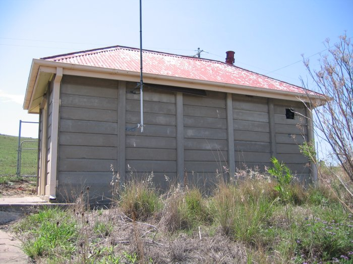 A concrete signalling hut.