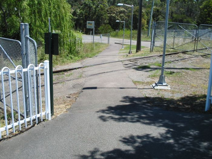 Looking down the path as you leave the station you cross the former Wangi Power Station branch.