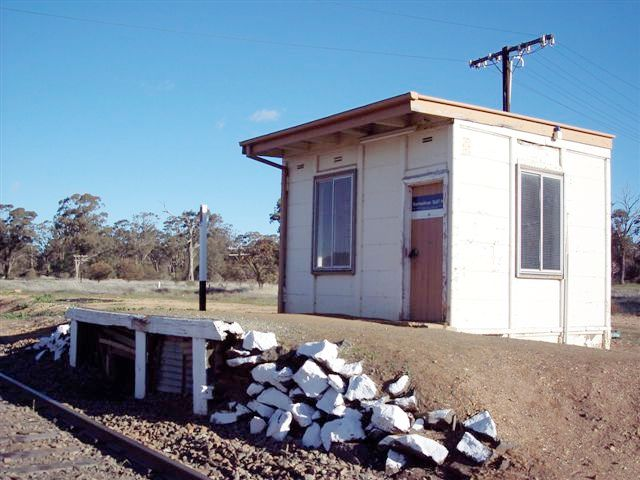 The staff hut and truncated platform remains.