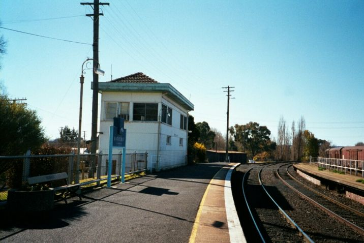 The signal box on the Sydney end of the up platform.