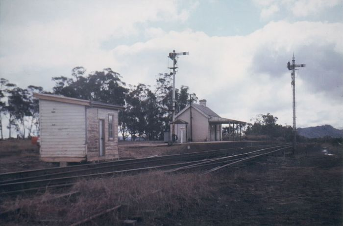 A shot of Ben Bullen with the signal box and semaphore signals still present.