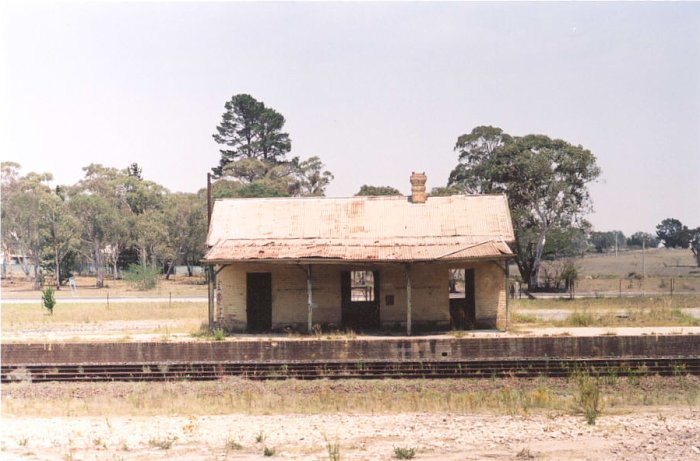 A front-on view of the station building.