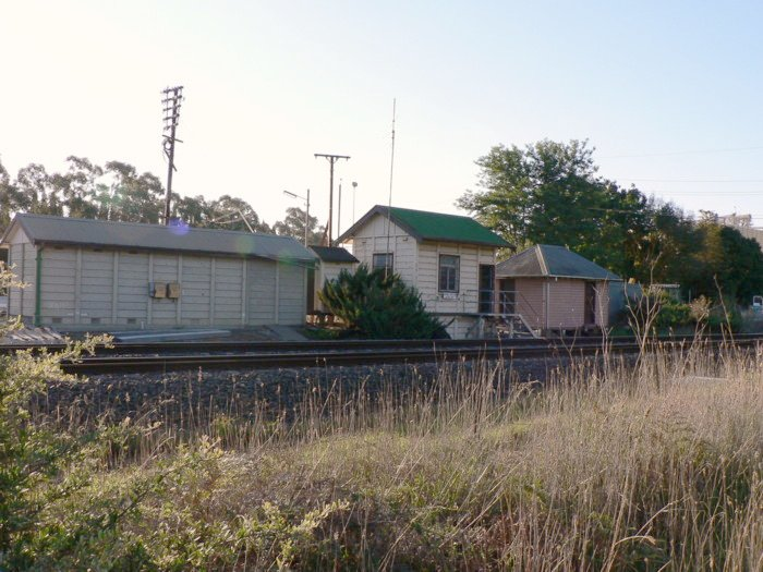 The view looking west towards the Berrima Junction signal box.