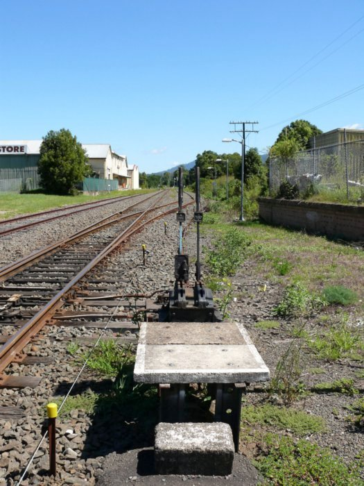 A ground frame in the yard, used for shunting movements.