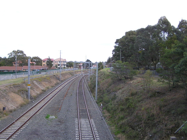Beverly Hills station, looking west from King Georges Rd.