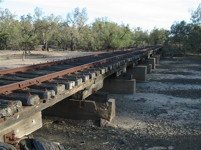 About 100m south of the tank is the low bridge over the Bogan River.  It is still in relatively good condition.