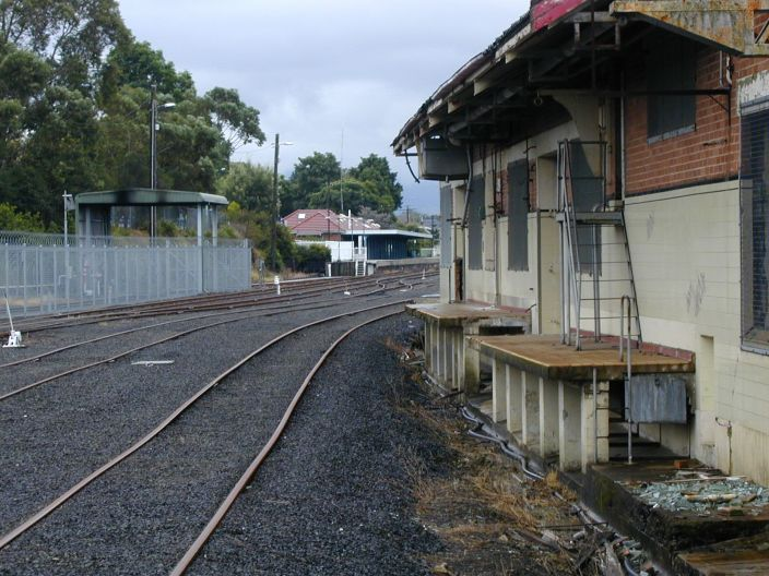Looking back from the Dairy Siding to the station.