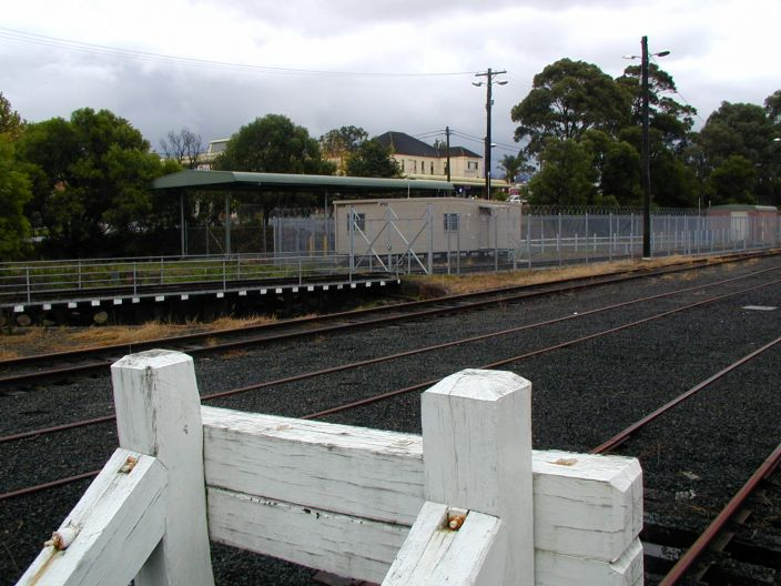 The turntable is still in place.  The buffers in the foreground mark the
