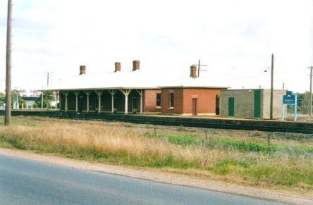 A view of the heritage listed station building.