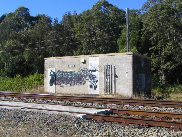 There is no trace at Bonville station apart from this building on the eastern side of the track.
