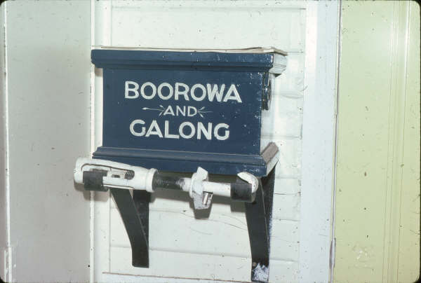 The Boorowa to Galong Staff and Ticket box.