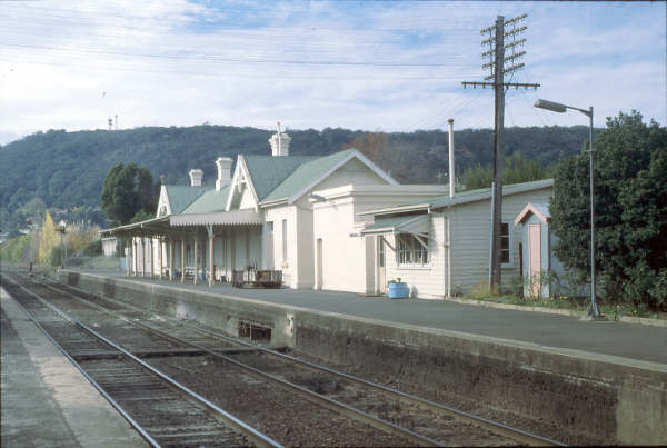 Bowral station looks sleepy on this Sunday in 1980.