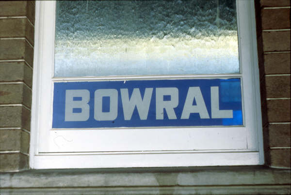 Bowral had some pretty windows as this picture shows in 1980.