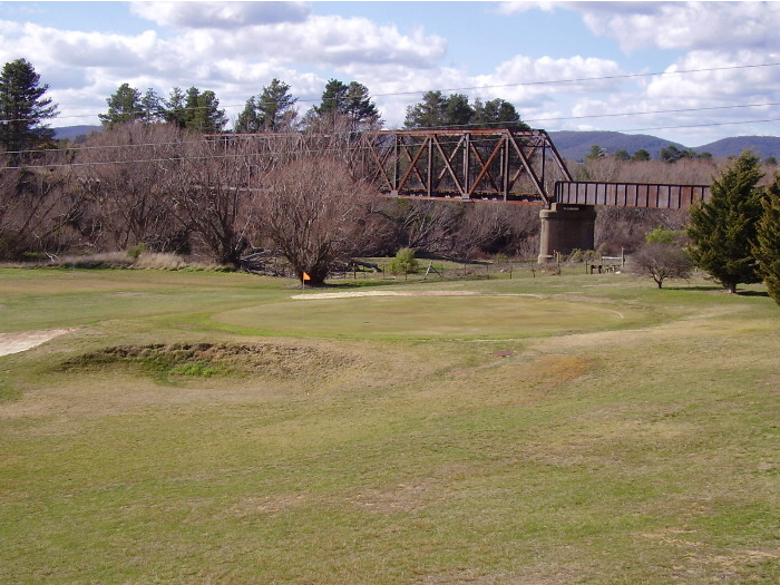 The Crookwell branch line crosses the Wollondilly River at Goulburn on this steel truss bridge - on the southern side looking towards Crookwell.
