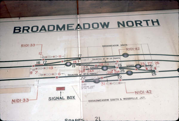 A close up of Broadmeadow North Diagram .