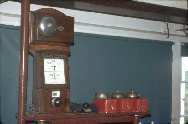 Broadmeadow South Box had a Tyers Block Instrument, which was for the Adamstown Relief Line. Note the standard bell instruments.