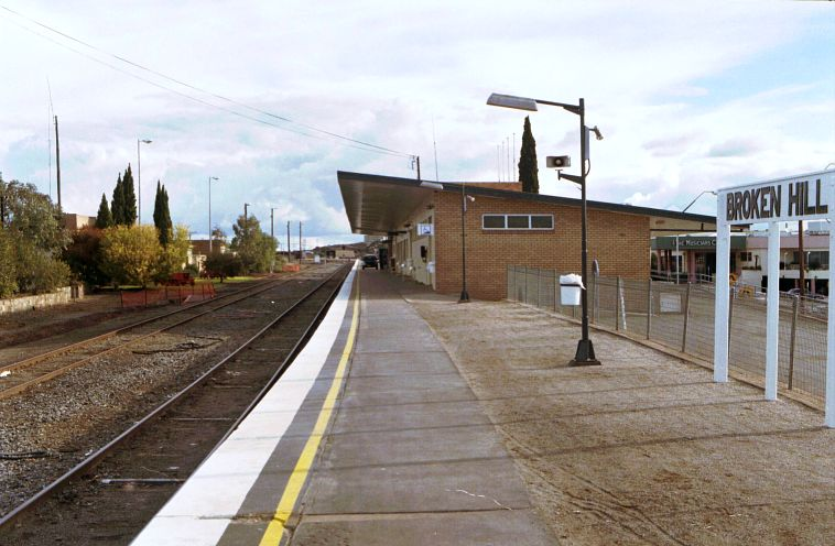 The view looking west along the current station.