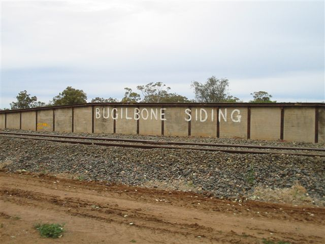 The hand-painted sign on the loading bank face.