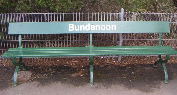A bench seat on the station.