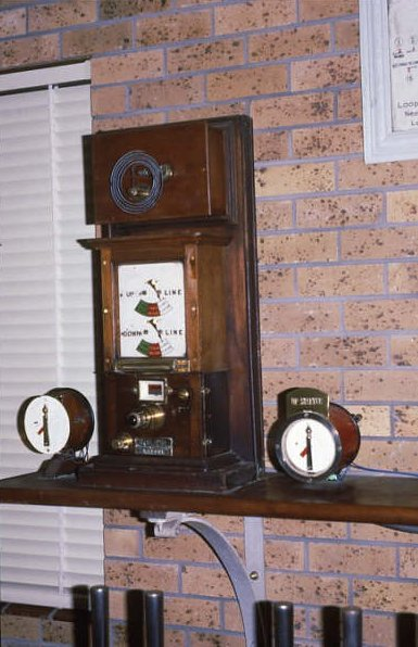 The Tyers block instrument in the signal box.