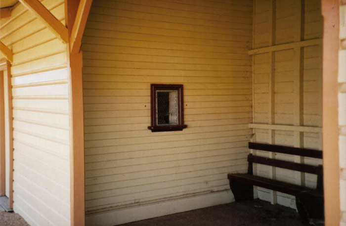 The waiting room and ticket window at Canowindra.