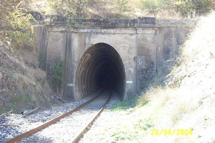 The southern portal of the tunnel.