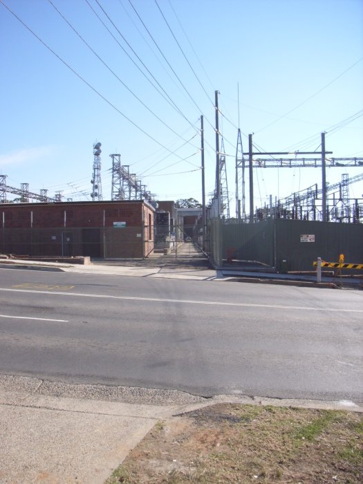 The former Electricity Commision siding crossed over Jenkins road to access the Sub-station.