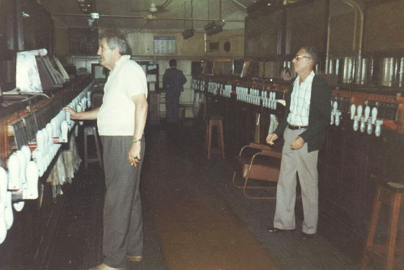 The monolithic pistol grip Sydney West Box interior taken a week before its closure in 1978.
