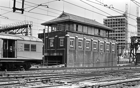 The Wells Street signal box, looking in the direction towards Redfern.