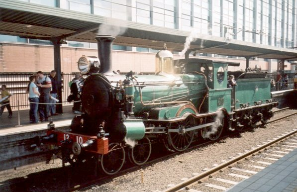 Steam loco 1210 stands at Central during the NSW 150th Anniversary of Rail celebrations.