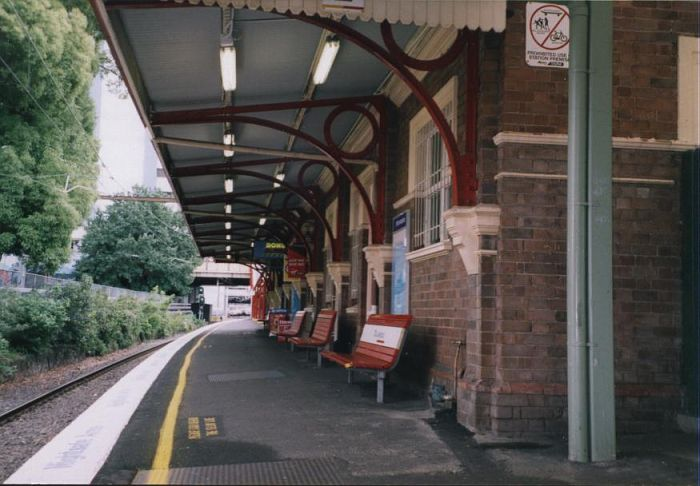 The view looking towards Hornsby along platform 2.