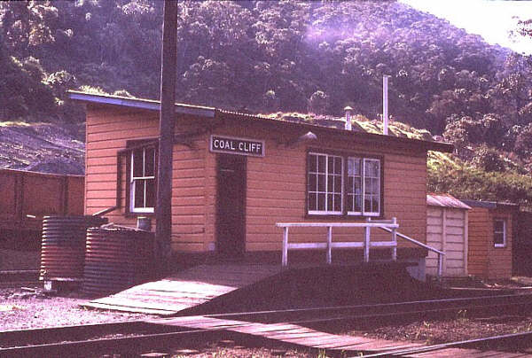 The signal box on the up side of the line.