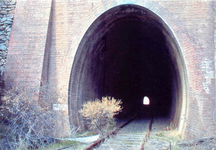 The northern portal of the tunnel.