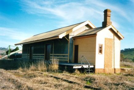 The track-side view of the restored goods shed.