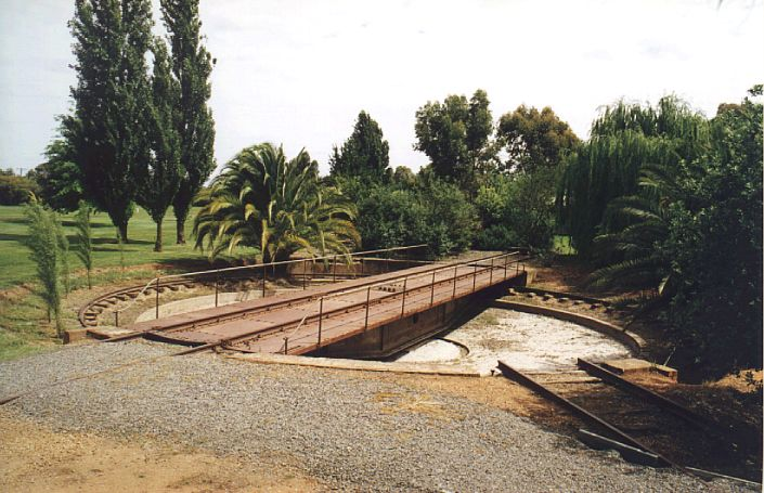 The turntable is still present at Corowa yard.  The yard has been turned