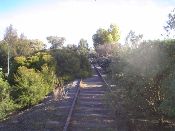 The Eugowra branch from Mid Western Hwy level crossing looking towards West Cowra.