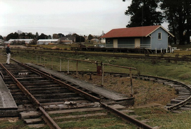 The turntable is still present.  In the background are the goods