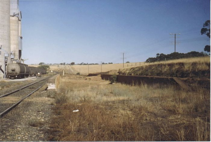 The original platform of Cunningar now is a little ways off the main line in this 1980 photo. The station had a 98 year life closing on March 9th, 1975