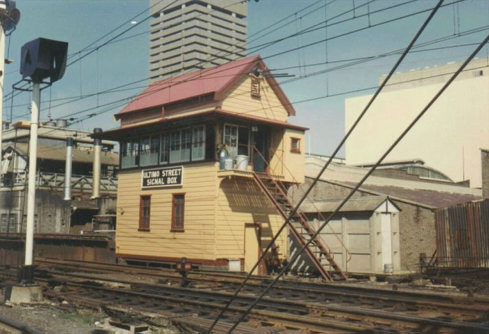 Ultimo Signal Box contained 36-lever frame.  The building was unfortunately destroyed by a fire on 11/3/1996.