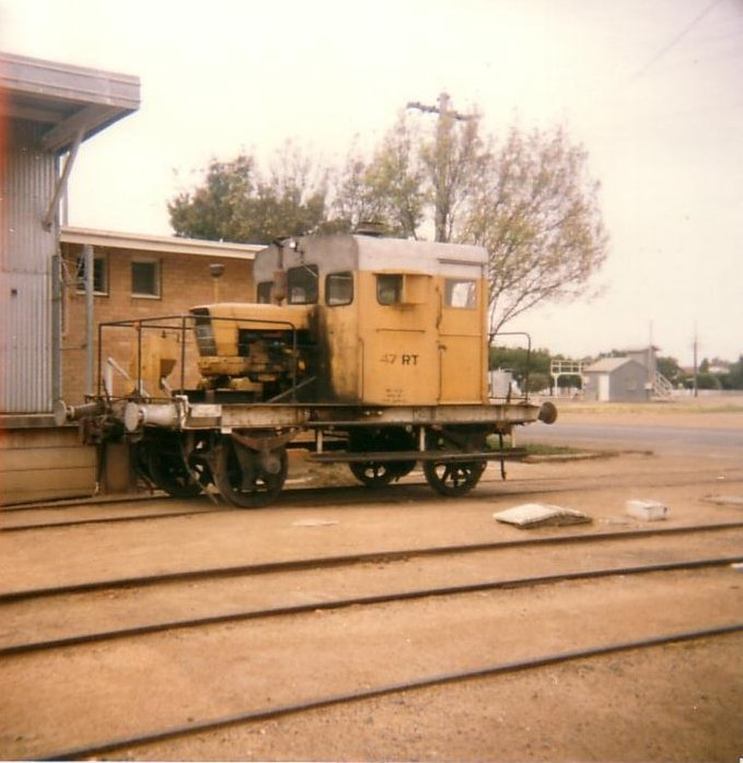Deniliquin goods shed with RT47 shunter.