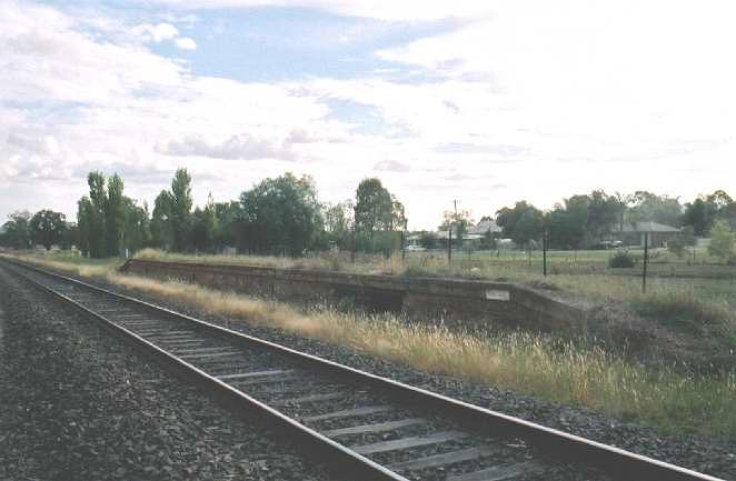 Another view of the platform looking towards Werris Creek. You can still see where the main frame would have been located on the platform.
