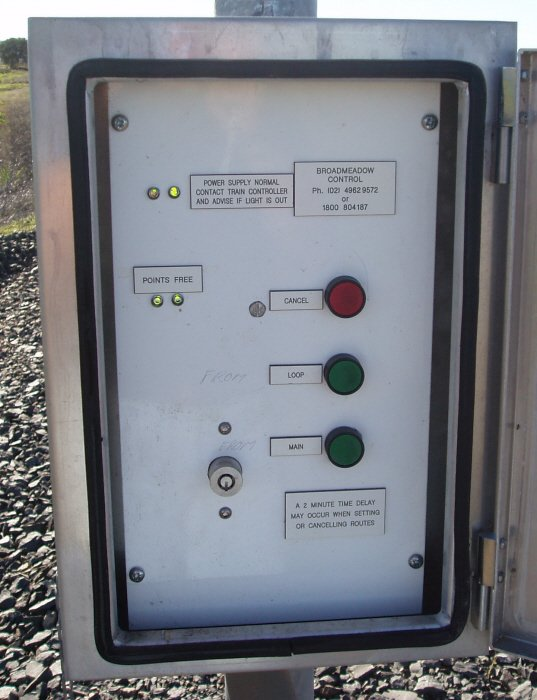 These controls are next to each Home and Home-Starting signal to control entry to and exit from the loop.