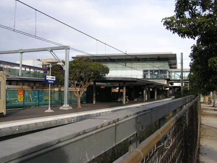 The new concourse viewed south from alongside Beecroft Rd.