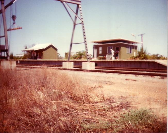 A view of the station when it was still attended.