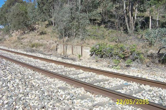 Possibly the remains of the platform for the Goodlet and Smith storage bins, which were served by an inclined cable tramway.