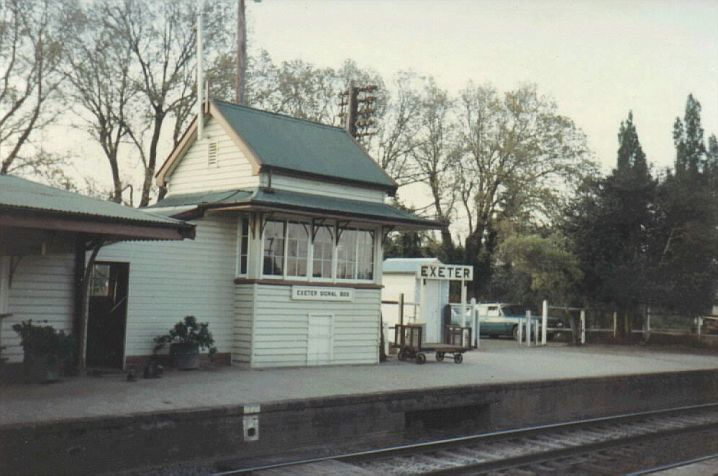 A view of Exeter Signal Box, sitting on the up platform.