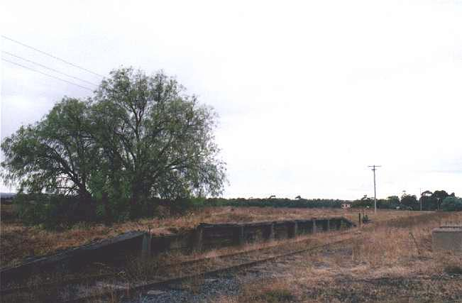 A view of the decaying timber platform remains looking towards Ladysmith.