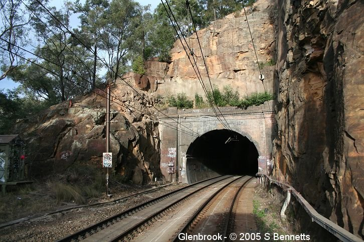 A photo of the eastern portal of Glenbrook tunnel.