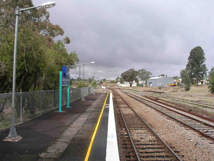 The up end of the station, looking south.
